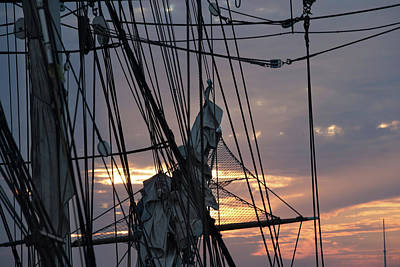 Photograph - Low Angle View Of Mast Of Sailboat by Panoramic Images