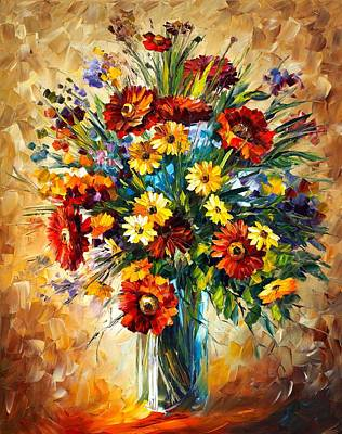 Abstract People Painting - Magic Flowers by Leonid Afremov