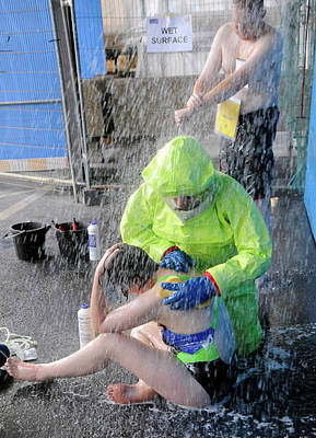 Simulated Photograph - Major Emergency Decontamination Training by Public Health England
