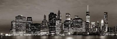 Thomas Kinkade Royalty Free Images - Manhattan at night Royalty-Free Image by Songquan Deng