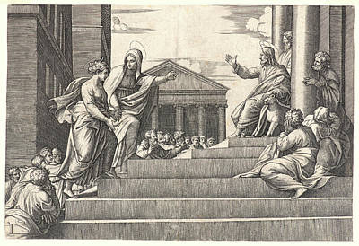 Martha Drawing - Marcantonio Raimondi Italian, Ca. 14701482 - 15271534 by Litz Collection