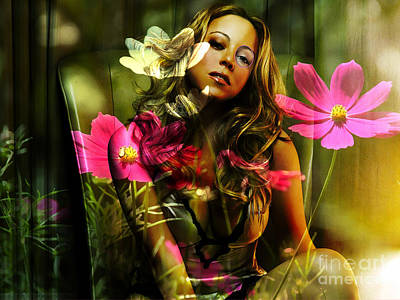 Mariah Mixed Media - Mariah Carey by Marvin Blaine