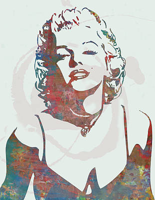Marilyn Monroe Stylised Pop Art Drawing Sketch Poster Art Print