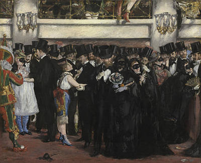 Edouard Manet Painting - Masked Ball At The Opera by Celestial Images