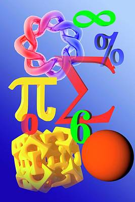 Mathematics Art Print