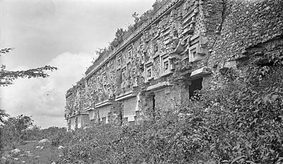 Carving Photograph - Mayan Temple Ruins by American Philosophical Society