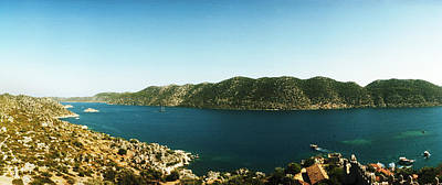 Byzantine Photograph - Mediterranean Sea Viewed by Panoramic Images