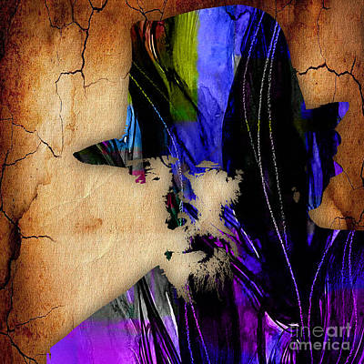 Music Mixed Media - Merle Haggard Collection by Marvin Blaine