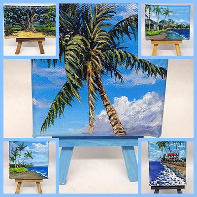 Painting - 5 Miniatures by Darice Machel McGuire