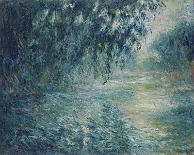Painting - Morning On The Seine by Claude Monet