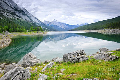 Photograph - Mountain Lake In Jasper National Park by Elena Elisseeva