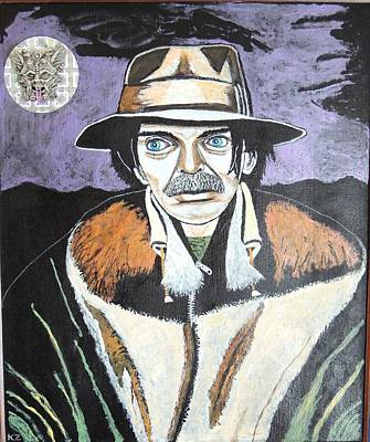Captain Beefheart Painting - Mushrooms With Captain Beefheart. by Ken Zabel