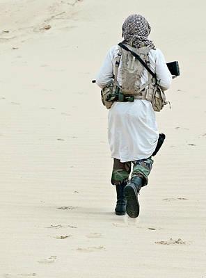Photograph - Muslim Rebel With Rifle by Oleg Zabielin