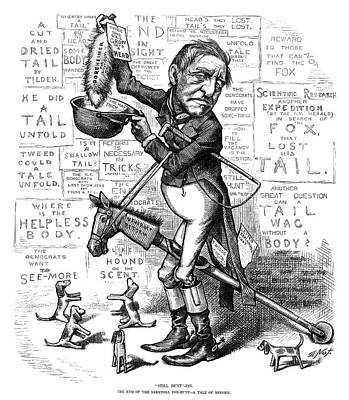 Nast Tilden Cartoon, 1876 Art Print by Granger