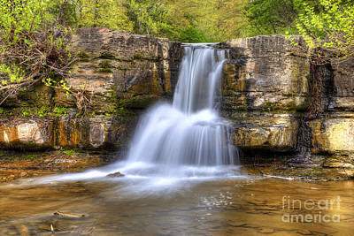 Ozarks Photograph - Natural Dam Falls by Twenty Two North Photography
