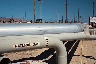 Natural Gas Photograph - Natural Gas Pipelines by Jim West