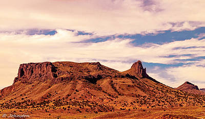 Grandview Digital Art - Navajo Nation Series Along 87 And 15 by Bob and Nadine Johnston