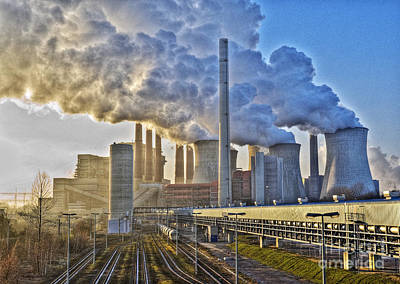 Neurath Power Station Germany Art Print by David Davies