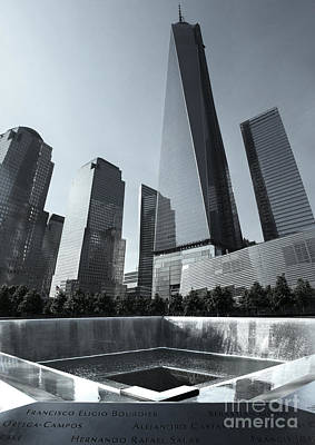 Photograph - New York City - 911 Memorial by Gregory Dyer