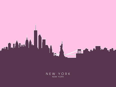 New York Skyline Digital Art - New York Skyline by Michael Tompsett