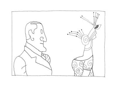 Abstract Montage Drawing - New Yorker February 20th, 1995 by Saul Steinberg