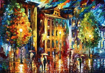 Tresses Painting - Night City  by Leonid Afremov