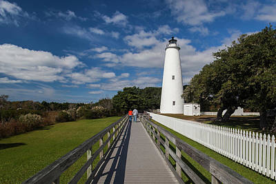 Ocracoke Lighthouse Photograph - North Carolina, Cape Hatteras National by Walter Bibikow