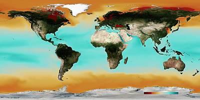 Ocean Carbonate Saturation Art Print by Noaa