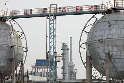 Oil Field In Daqing Art Print by Ashley Cooper