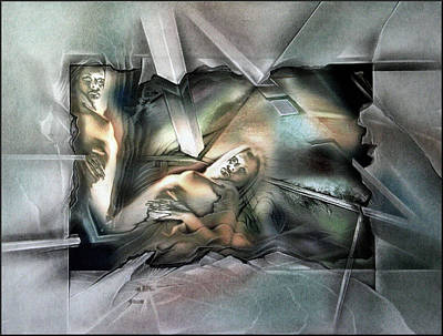 Mixed Media - #5 Old And New Self 2003 by Glenn Bautista