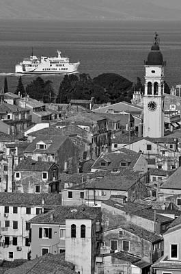 Houses Photograph - Old City Of Corfu by George Atsametakis