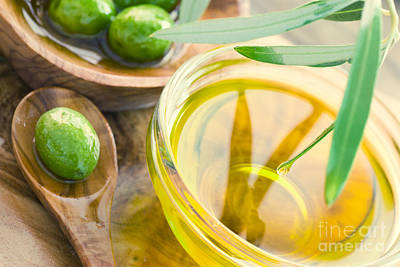 Olive Oil Art Print by Mythja  Photography