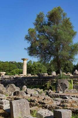 Zeus Photograph - Olympia, Greece by Ken Welsh