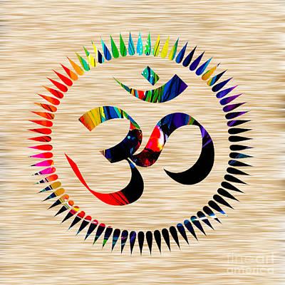 Namaste Mixed Media - Om by Marvin Blaine