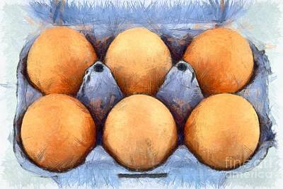 Biological Painting - Organic Eggs by George Atsametakis