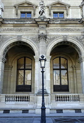Abstract Animalia - Ornate Architectural Artwork On The Buildings Of The Musee du Louvre In Paris France by Rick Rosenshein