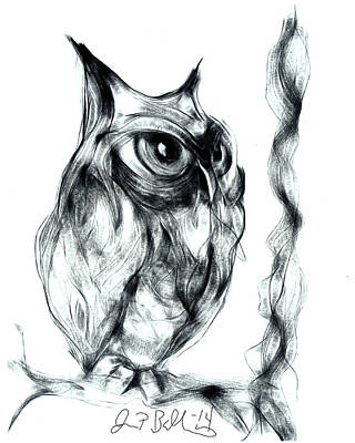 Digital Art - Owl  by Jon Baldwin  Art