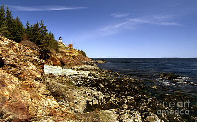 Owls Head Lighthouse Print by Skip Willits