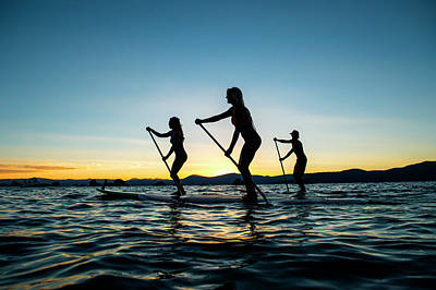 Paddle Boarding In Cali Art Print