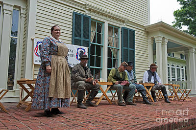 Photograph - Palas Athena Ladies Aid Society 150 Civil War Reenactment Of The Battle Of Trevilian Station by Jonathan E Whichard
