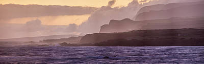 Repetition Photograph - Panoramic Of Molokais North Shore Sea by Richard A Cooke Iii.