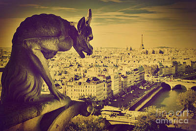 Paris Panorama France  Art Print by Michal Bednarek