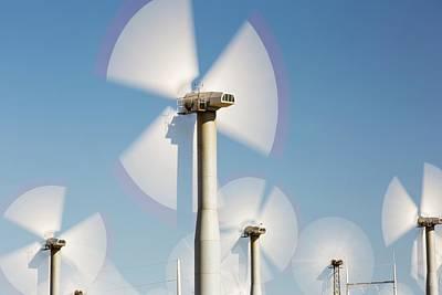Part Of The Tehachapi Pass Wind Farm Art Print