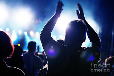 Disco Photograph - People On Music Concert by Michal Bednarek