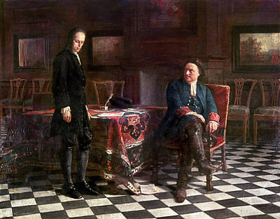 Checkerboard Floor Painting - Peter The Great (1672-1725) by Granger
