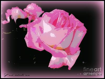 Photograph - Pink Rose by Leanne Seymour