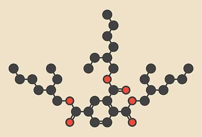 Polymer Photograph - Plasticizer Molecule by Molekuul