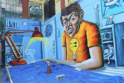 Photograph - 5 Pointz Graffiti Art 5 by Allen Beatty