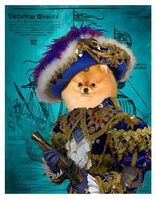 Painting - Pomeranian Art Canvas Print by Sandra Sij