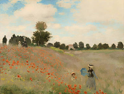 Poppies Field Painting - Poppy Field by Mountain Dreams